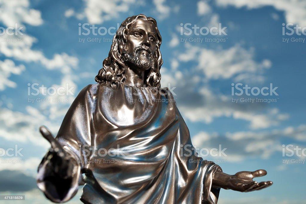 Bronze Jesus royalty-free stock photo