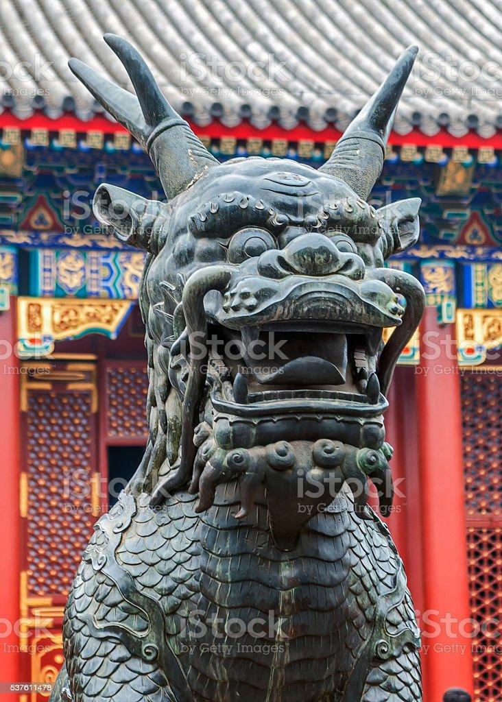 Bronze Jilin  symbolizes longevity and prosperity. stock photo