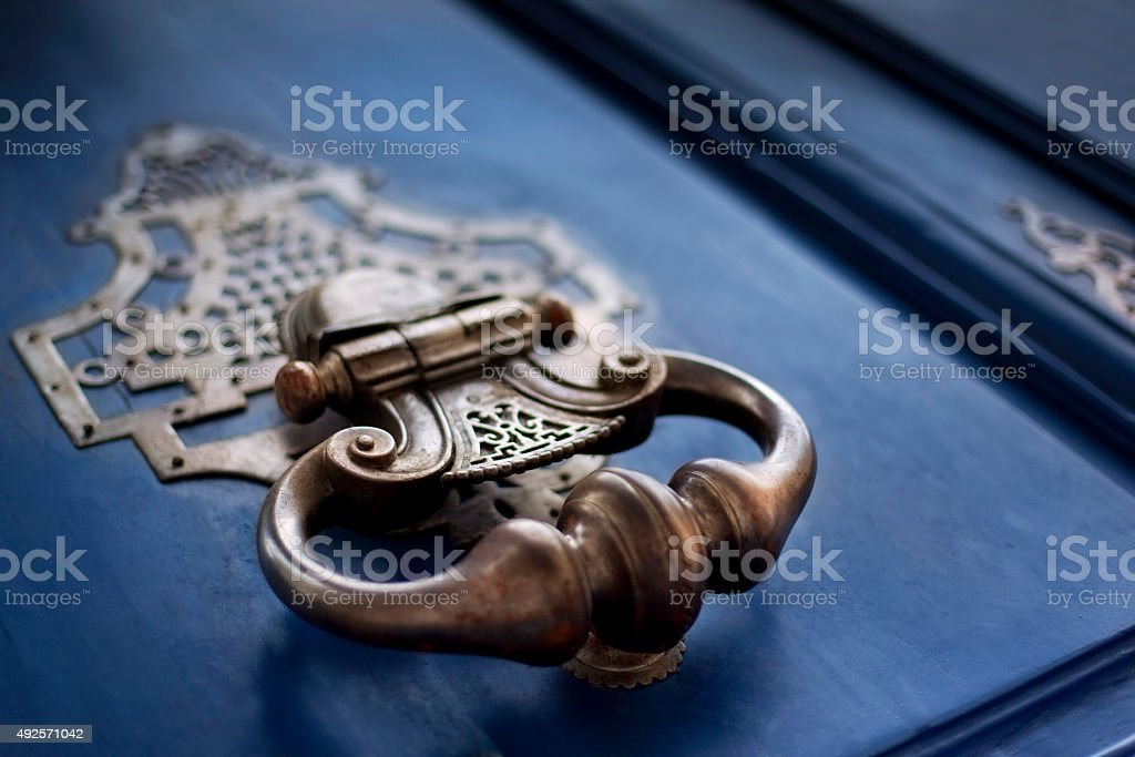 Bronze knocker stock photo