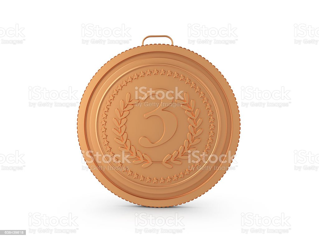 Bronze medal stock photo