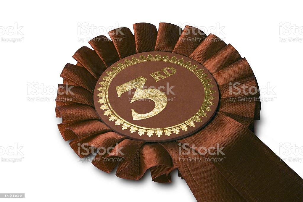 Bronze Medal Rosette royalty-free stock photo