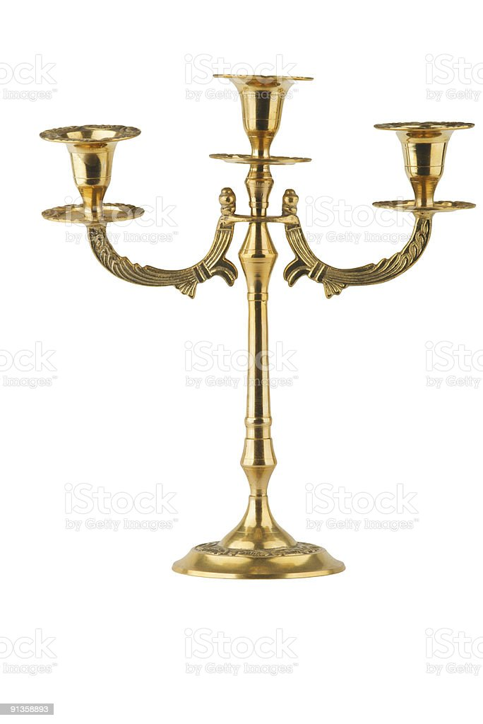 bronze old-fashioned sconce royalty-free stock photo
