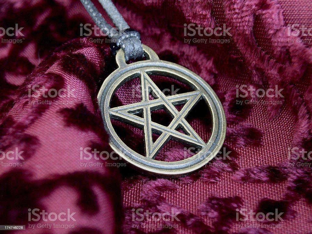 Bronze Pentacle royalty-free stock photo