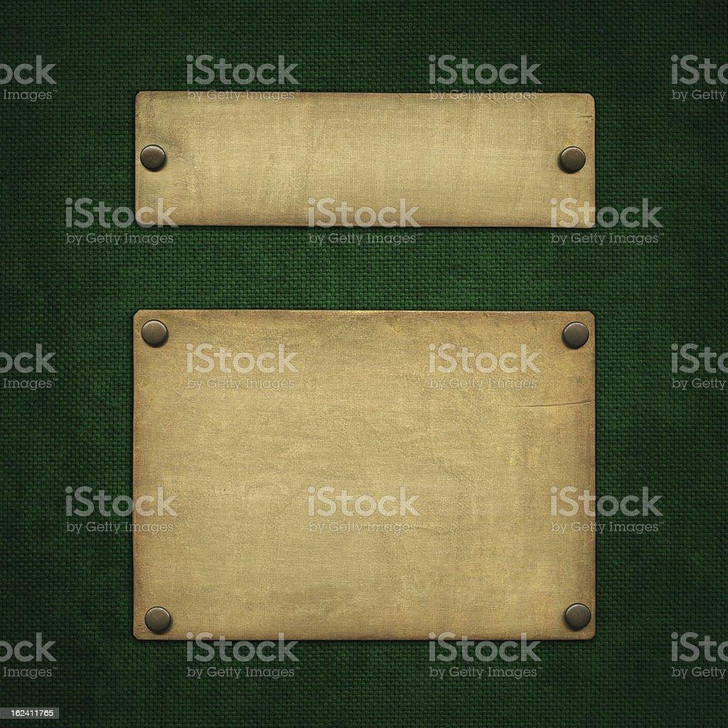 Bronze plaque royalty-free stock photo
