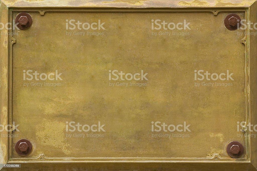Bronze Plaque stock photo