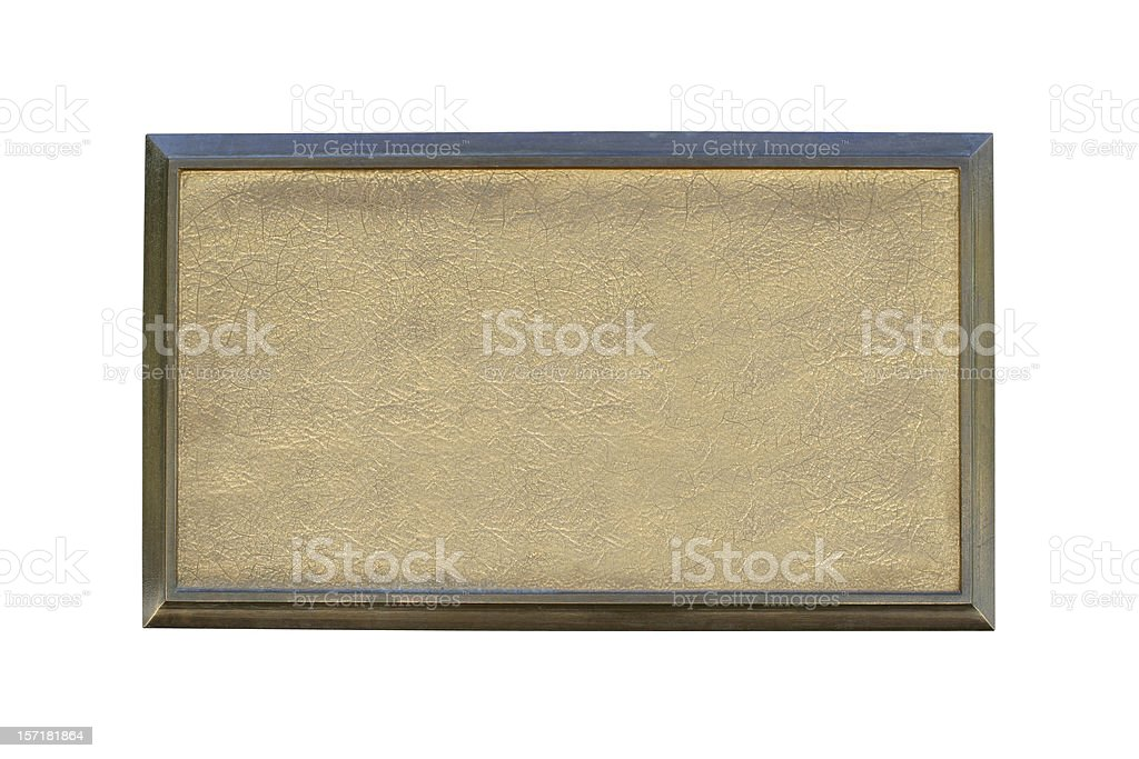 Bronze Plate stock photo