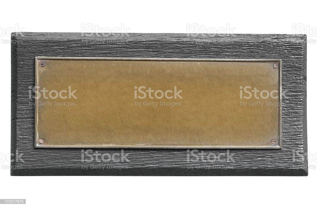 Bronze Plate stock photo