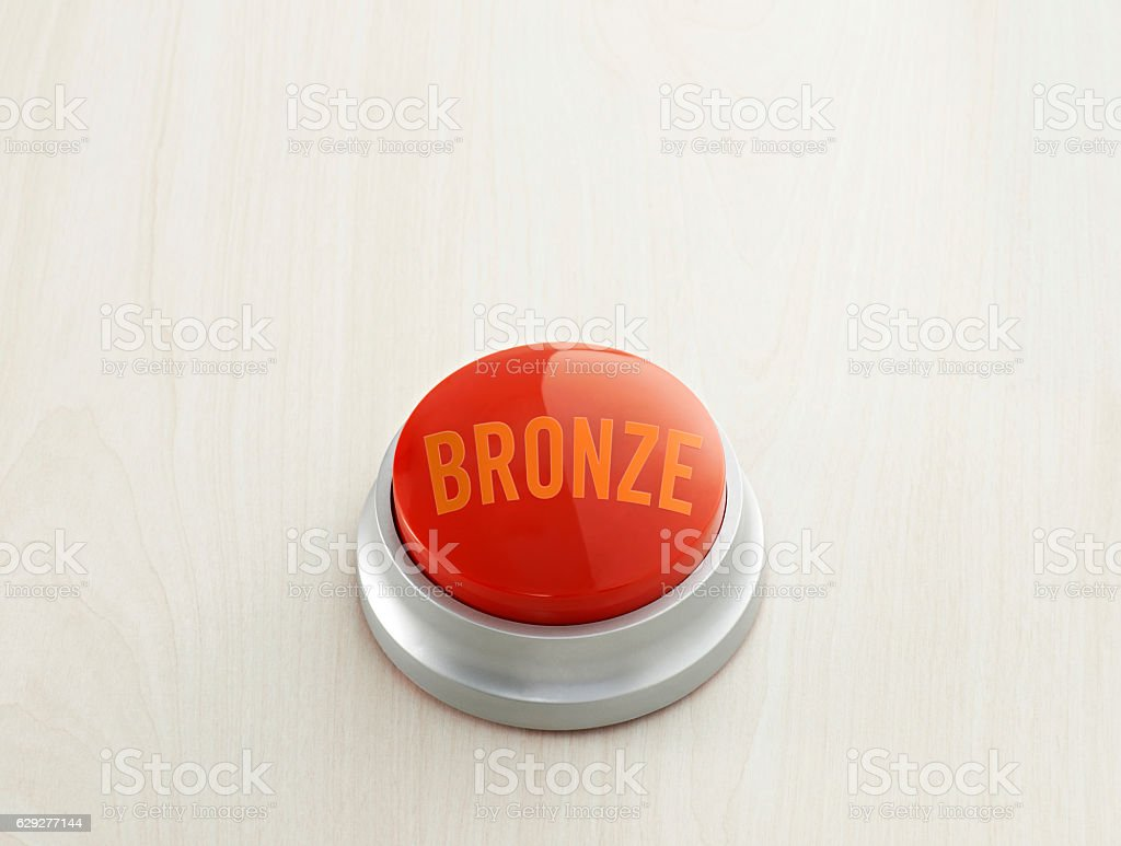 'bronze' push button stock photo