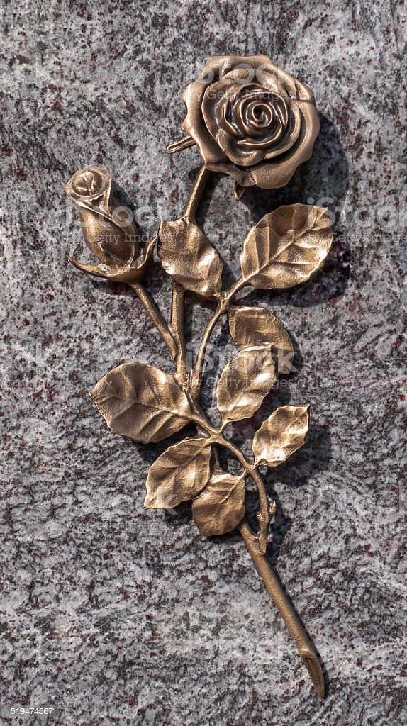 Bronze rose royalty-free stock photo