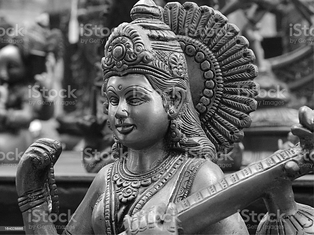 Bronze Saraswathy Statue stock photo
