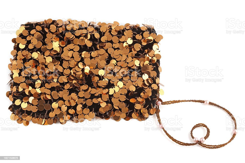 Bronze Sequin Evening Bag stock photo
