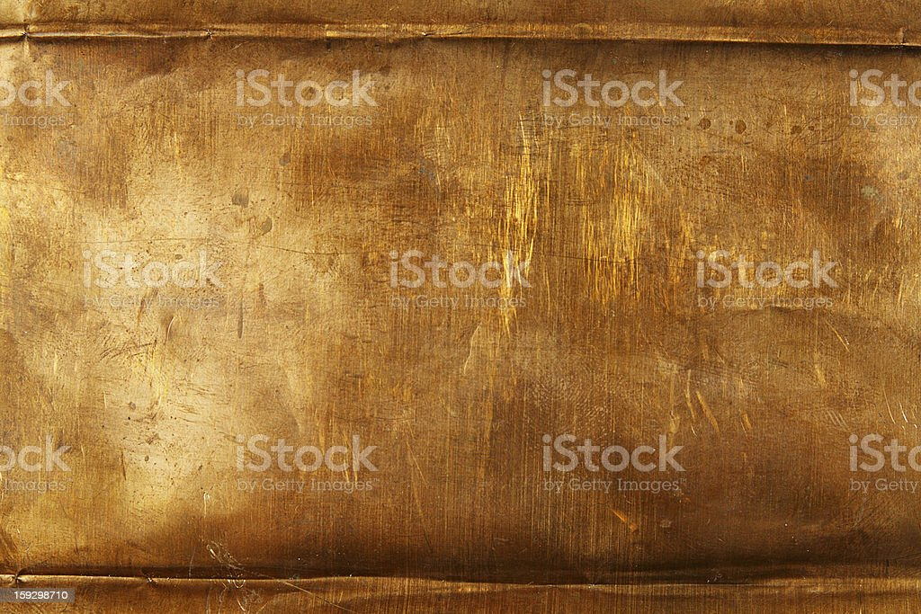 Bronze sheet metal stock photo