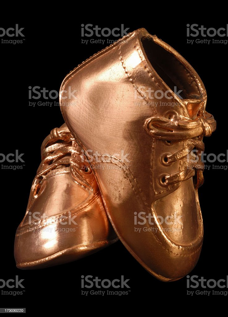 Bronze Shoes royalty-free stock photo
