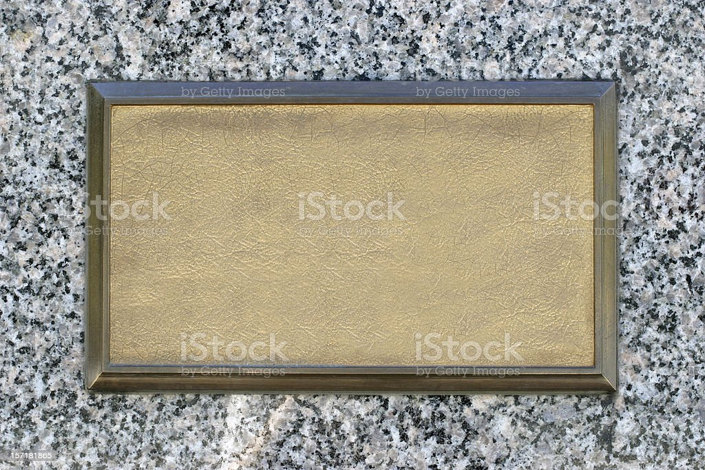 Bronze Signage stock photo