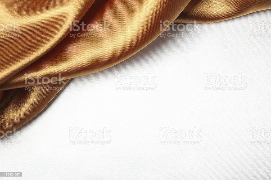 Bronze Silk Curtain royalty-free stock photo