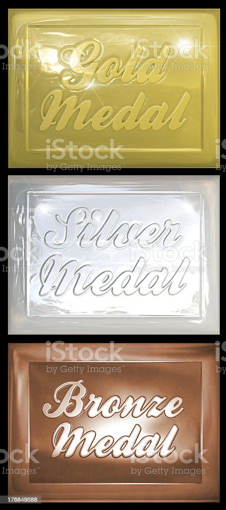 Bronze Silver and Gold Medals royalty-free stock photo