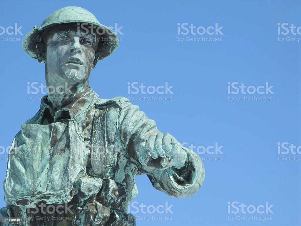 Bronze soldier. stock photo