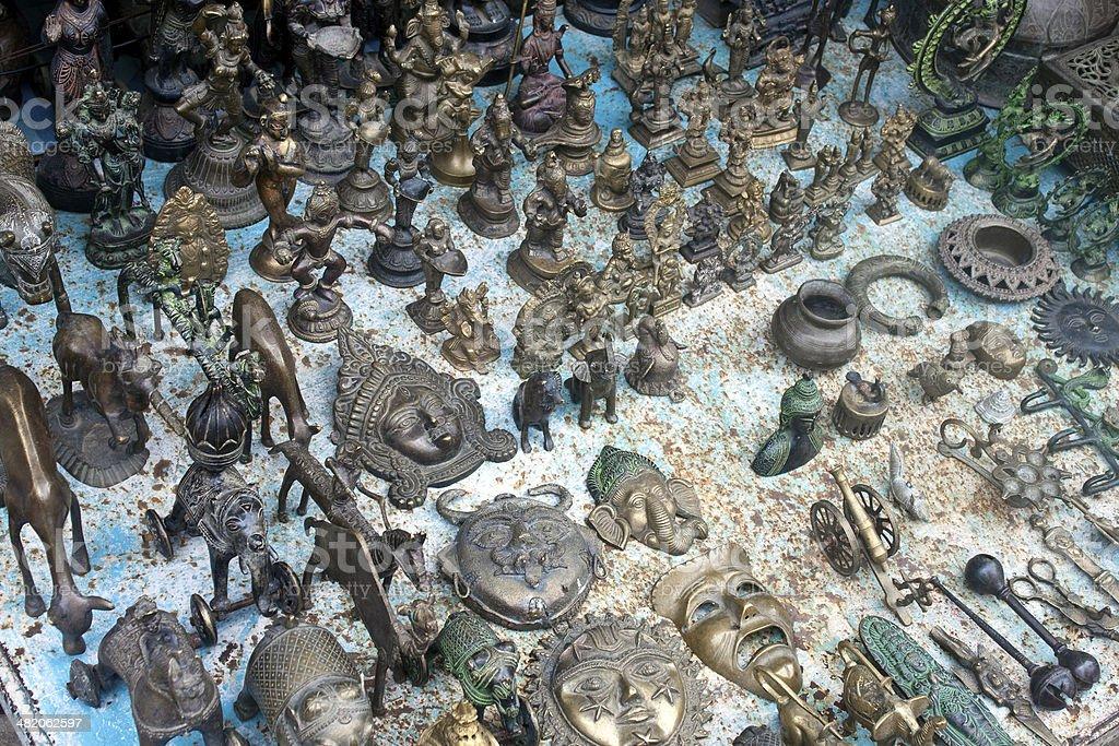 Bronze souvenirs for sale stock photo