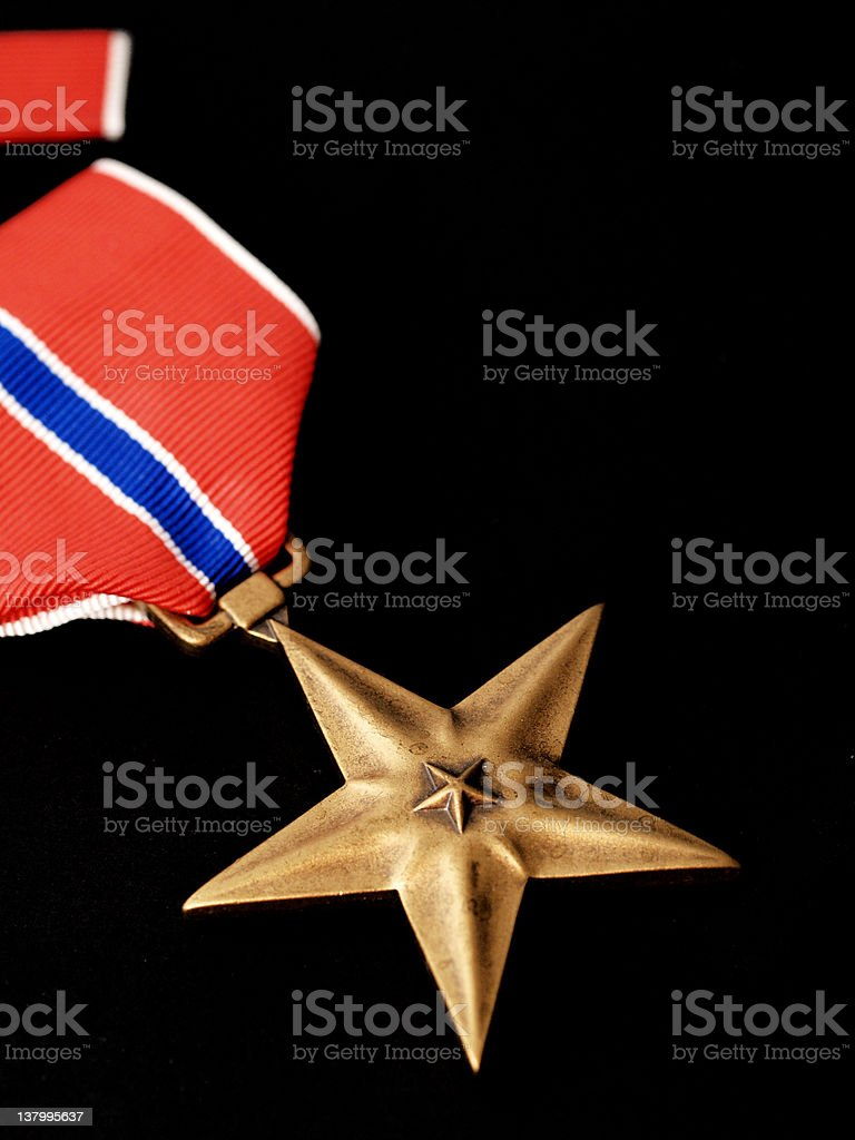 bronze star 2 stock photo
