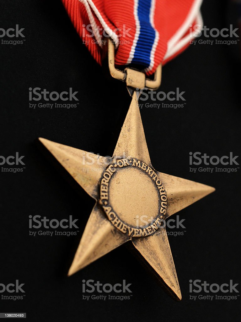 Bronze star for heroics stock photo