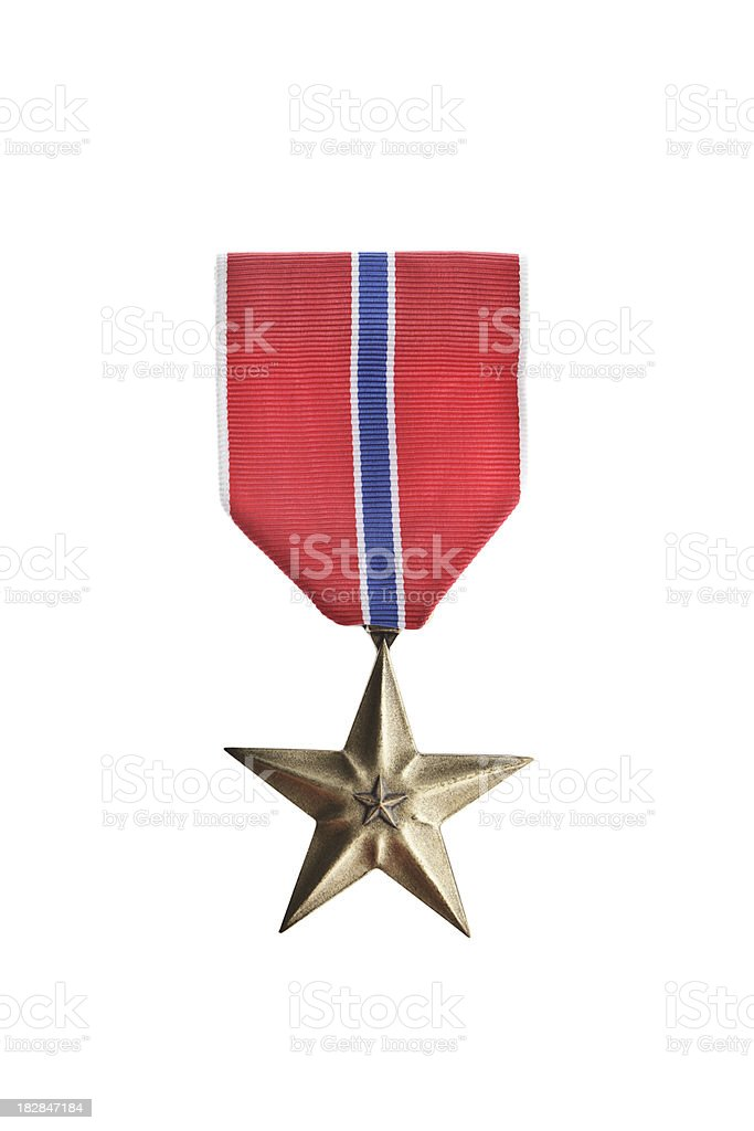 Bronze Star Medal royalty-free stock photo