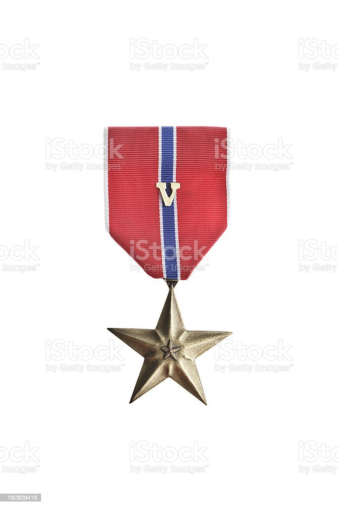 Bronze Star Medal With V royalty-free stock photo