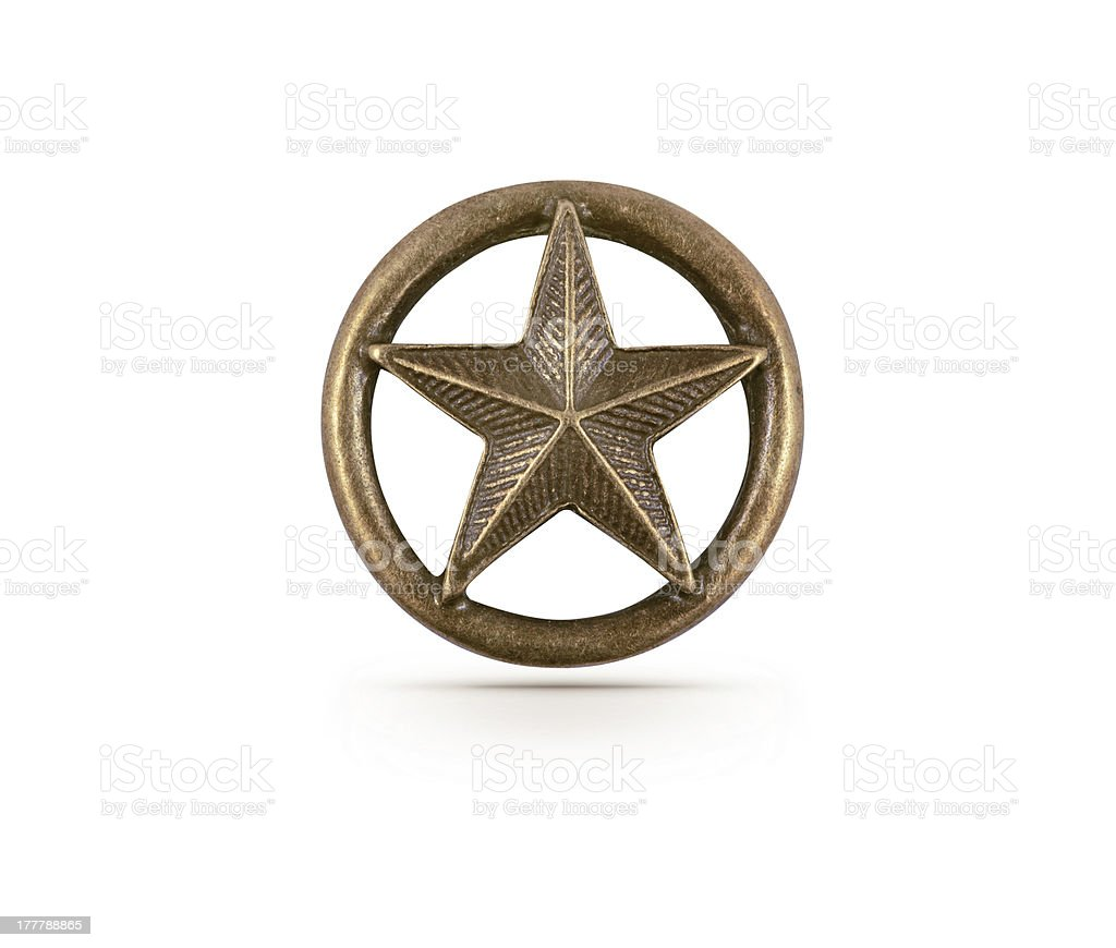 Bronze star symbol stock photo