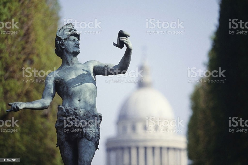 bronze statue at Jardin du Luxembourg close to Paris' Panth?on stock photo