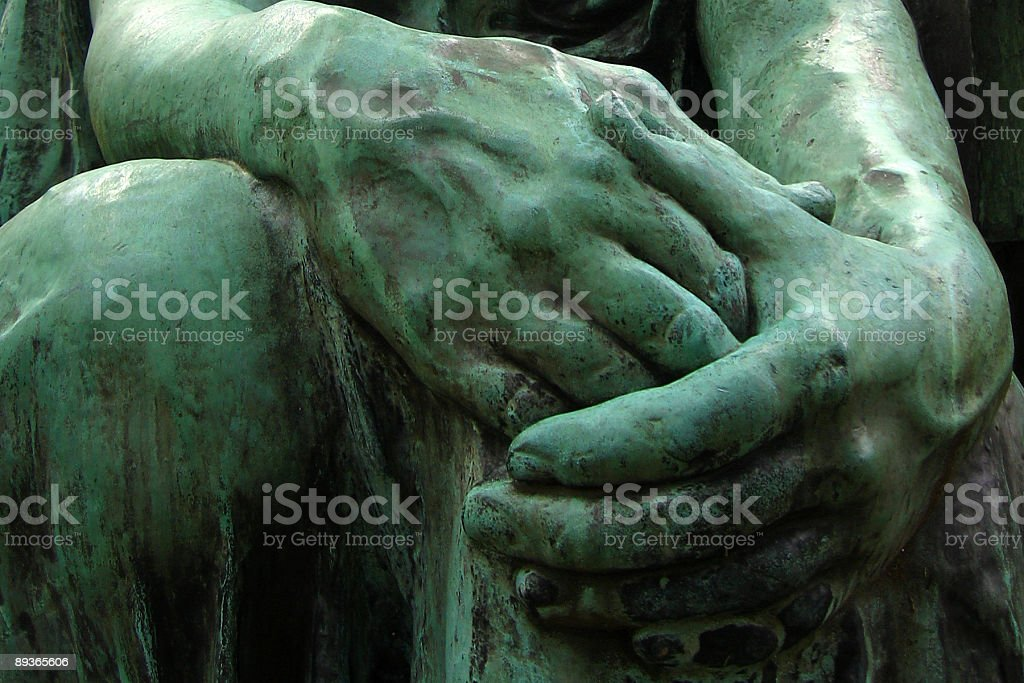 Bronze Statue Hands royalty-free stock photo