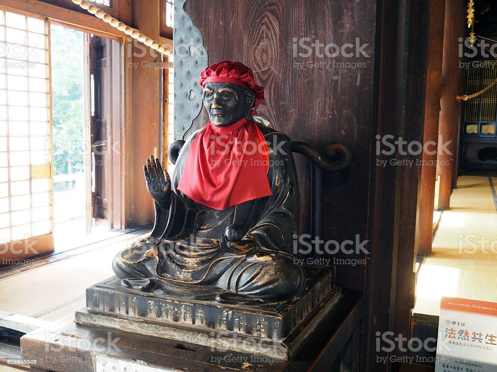 Bronze Statue, Honen stock photo
