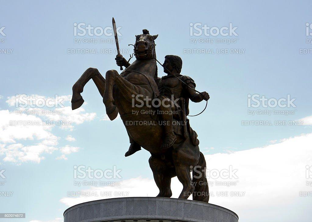 Bronze statue of Alexander the Great stock photo