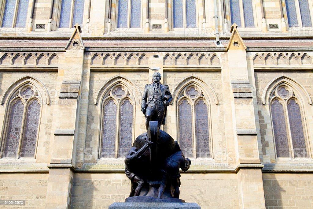 Bronze statue of Captain Matthew stock photo