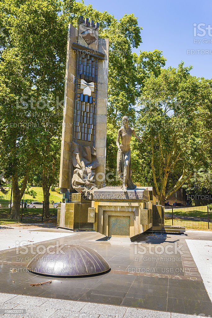 Bronze Statue of Evita Perón in Buenos Aires, Argentina royalty-free stock photo