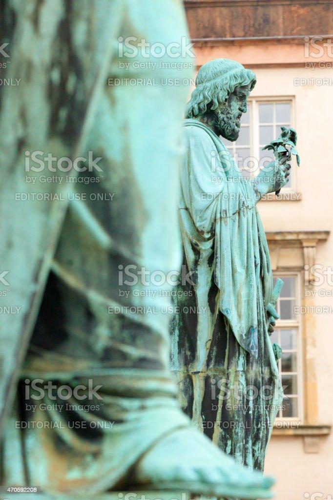 bronze statue of Hercules in Copenhagen stock photo