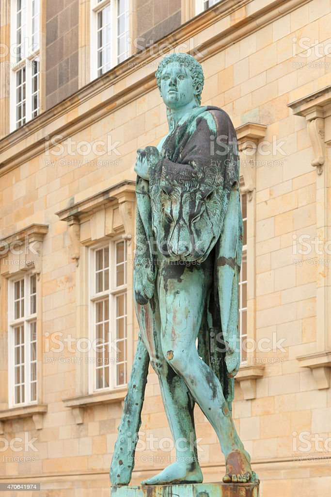 bronze statue of Hercules in Copenhagen stock photo