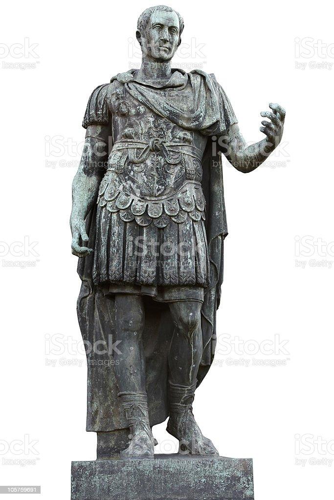 Bronze statue of Julius Caesar stock photo