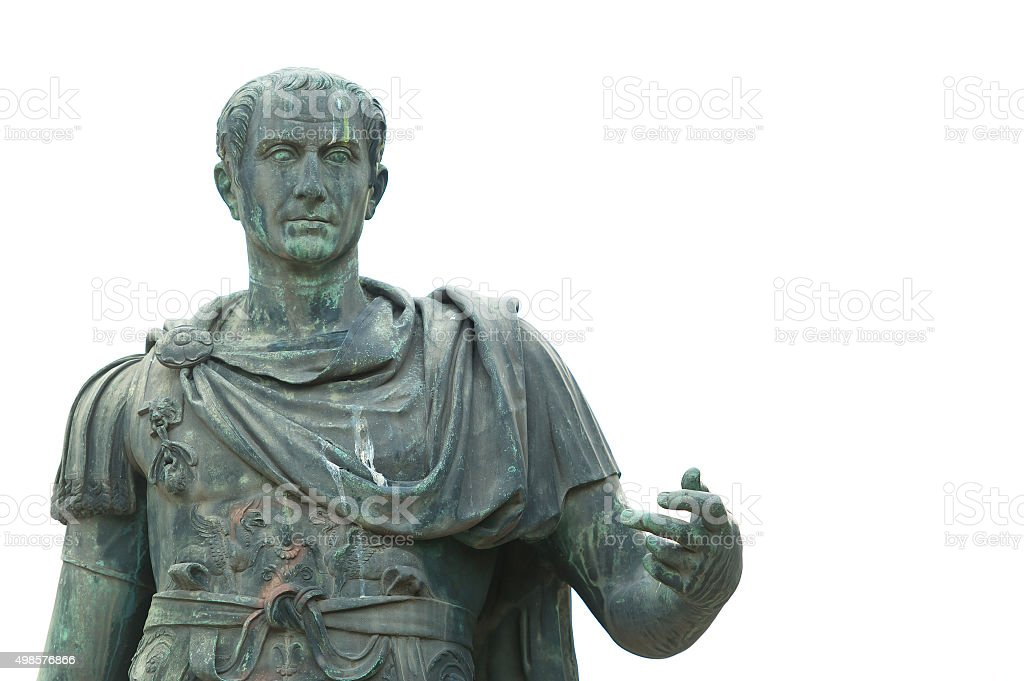 Bronze statue of Julius Caesar stock photo