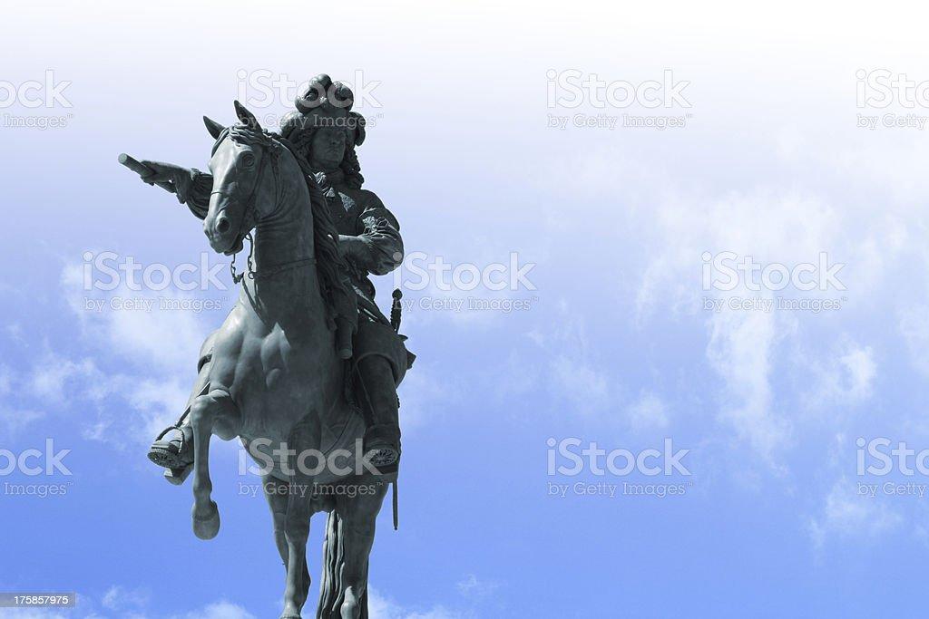 Bronze statue of King Louis XIV stock photo