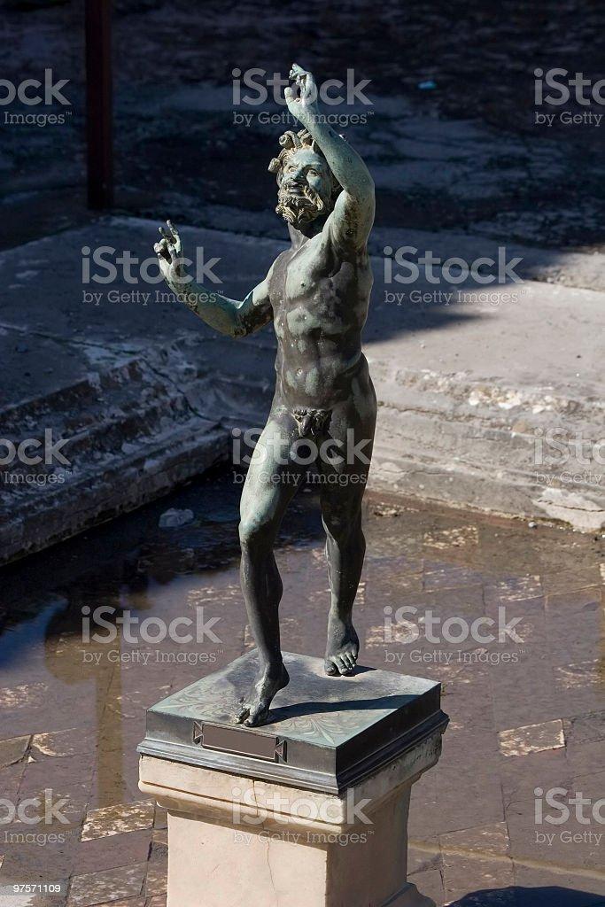 Bronze Statue (Fauno) stock photo