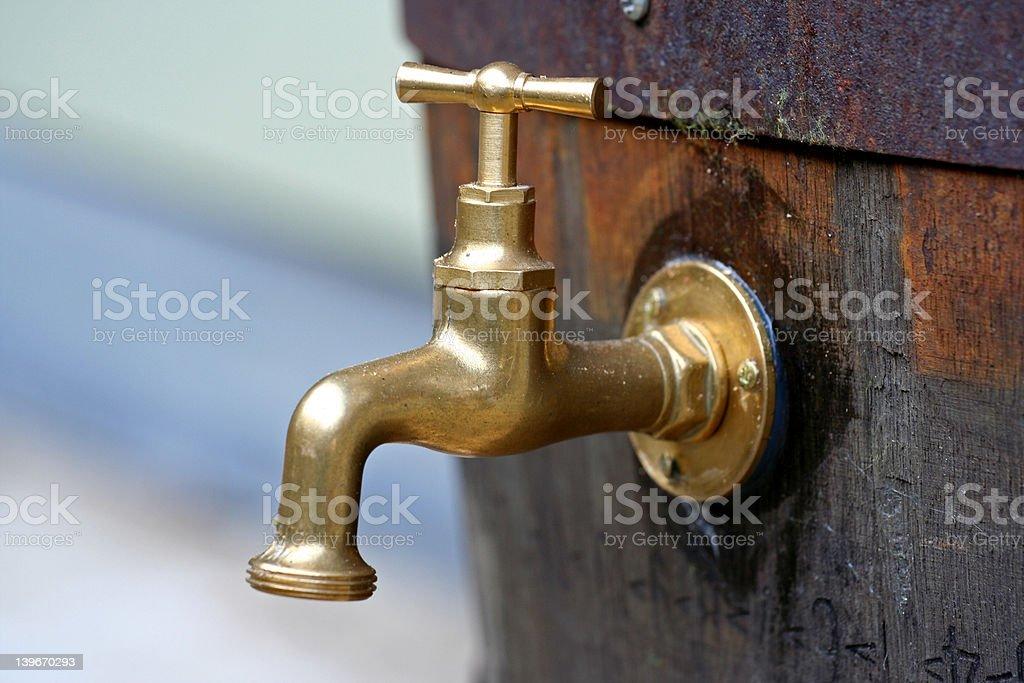 Bronze tap royalty-free stock photo