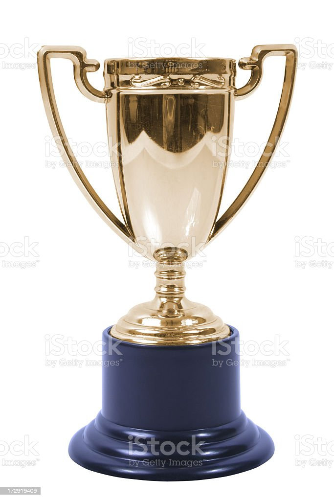 Bronze trophy royalty-free stock photo