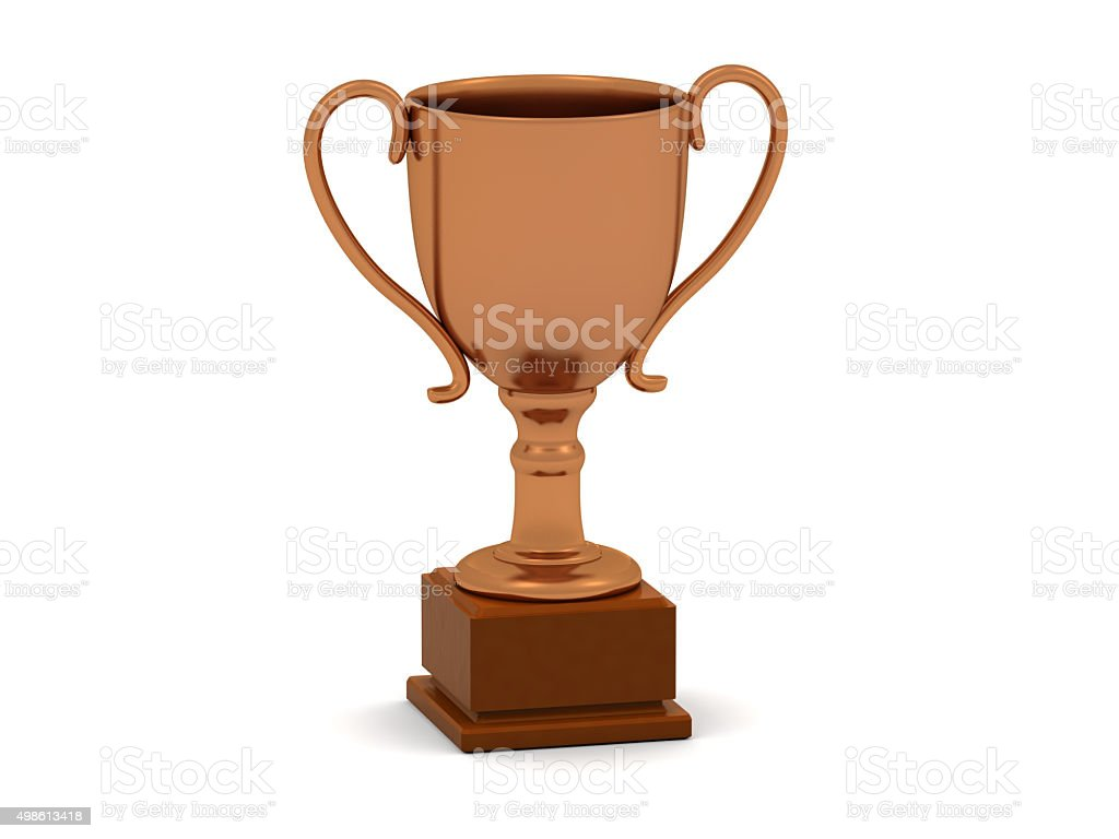 Bronze Trophy stock photo