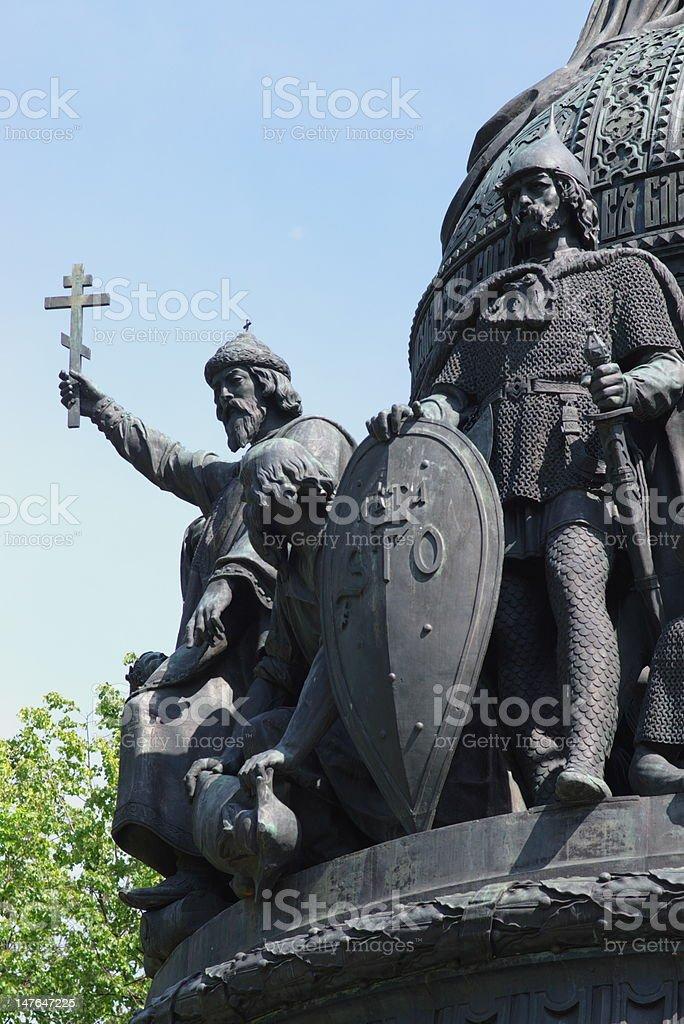 Bronze warrior statues royalty-free stock photo