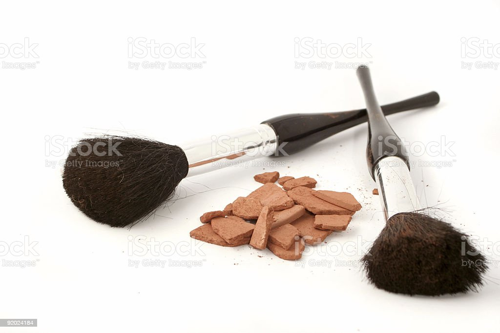 bronzer and brushes royalty-free stock photo
