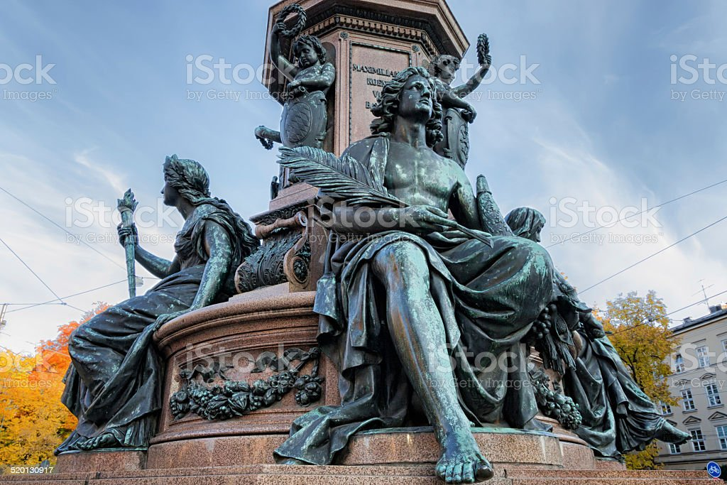 Bronzestandbild von Maximilian II.Joseph M?nchen stock photo