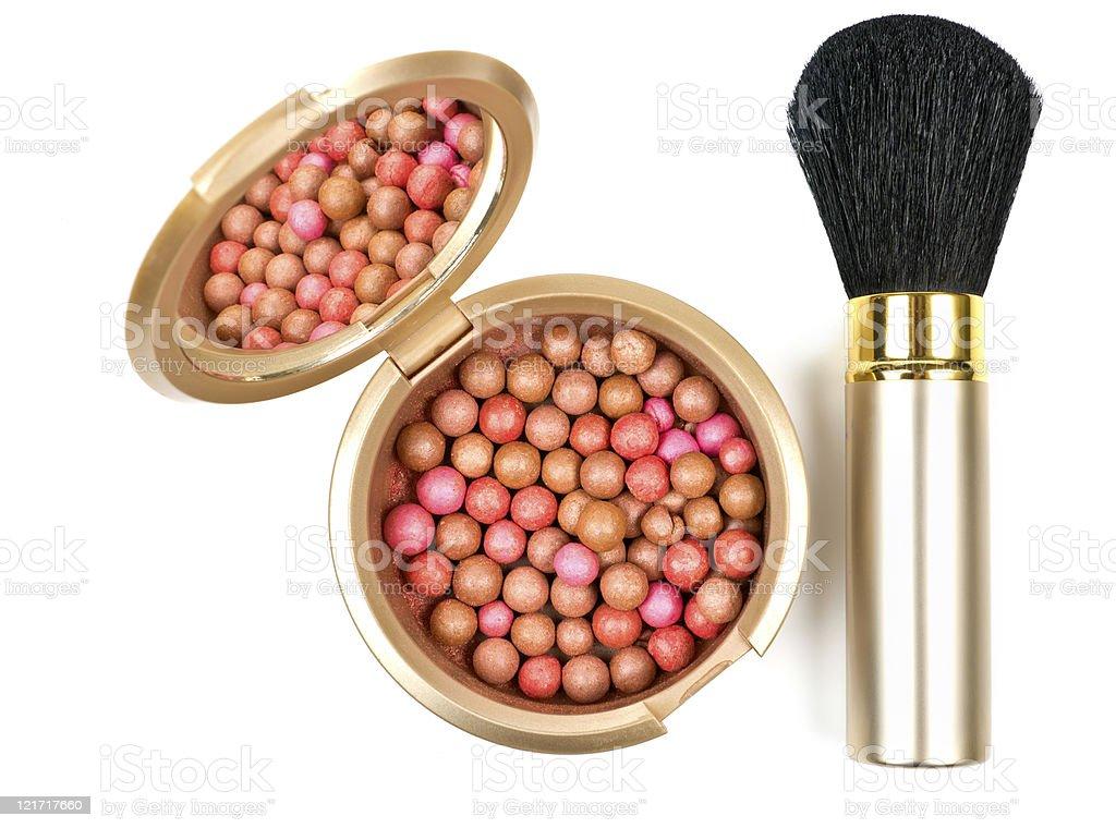 Bronzing pearls stock photo