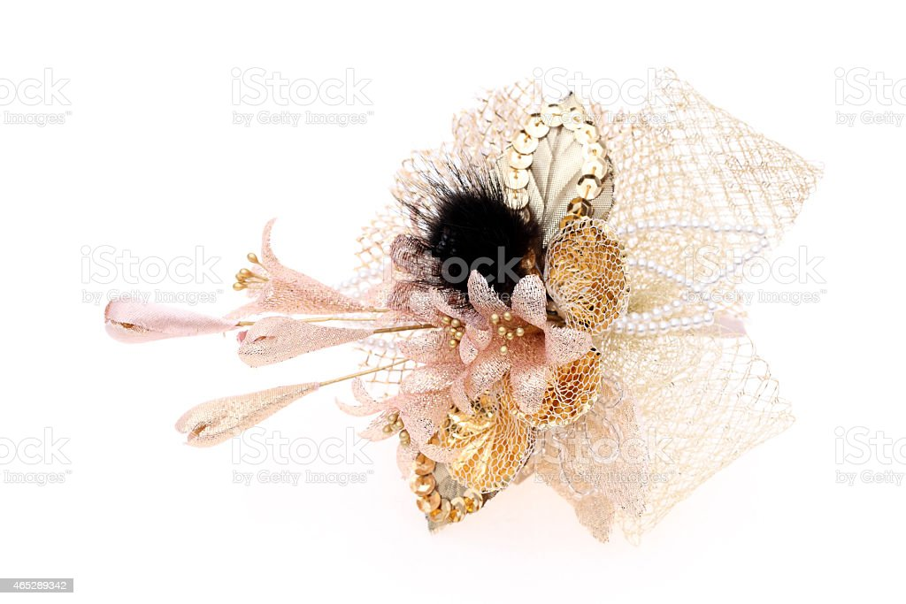 brooch flower accessory stock photo