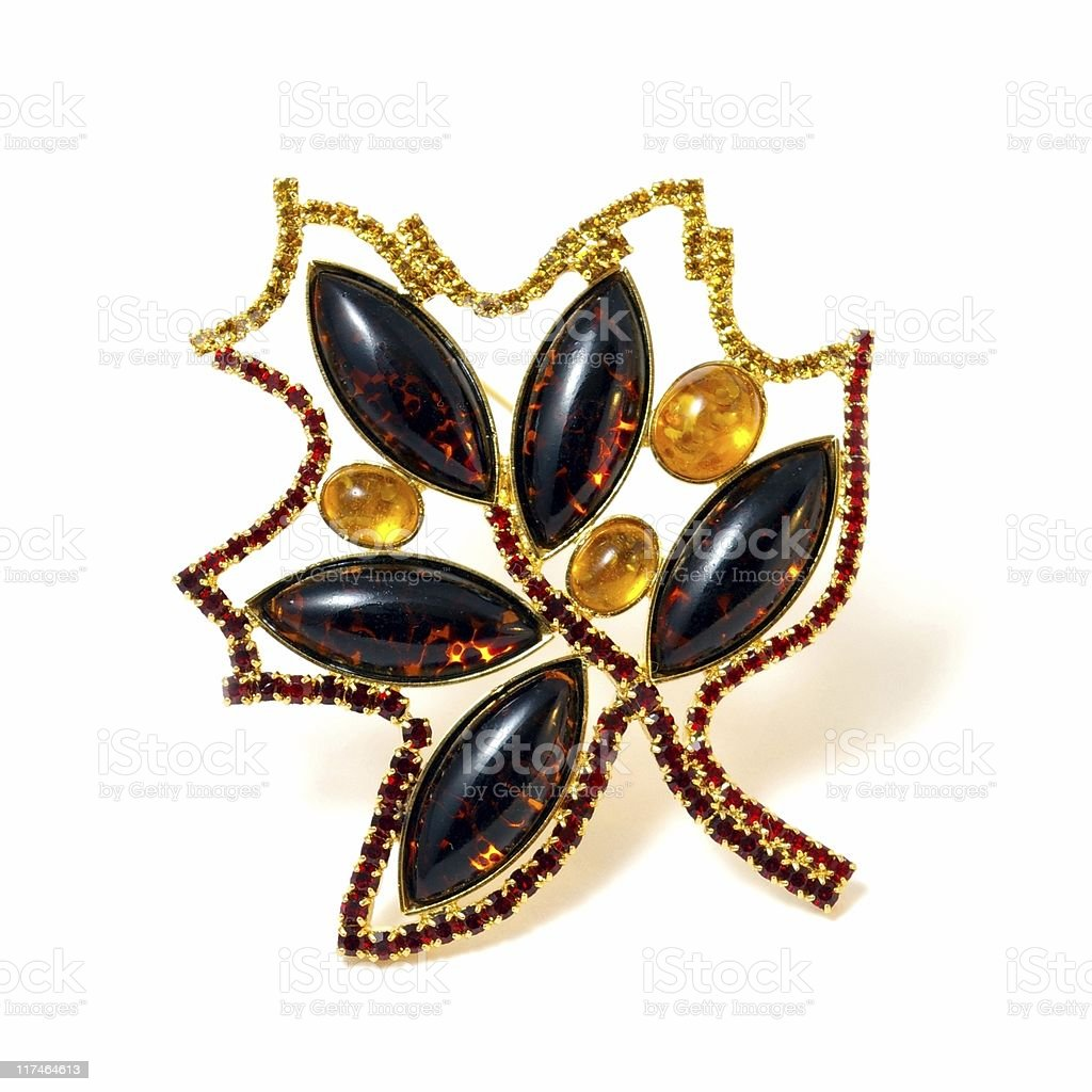 Brooch Maple leaf royalty-free stock photo