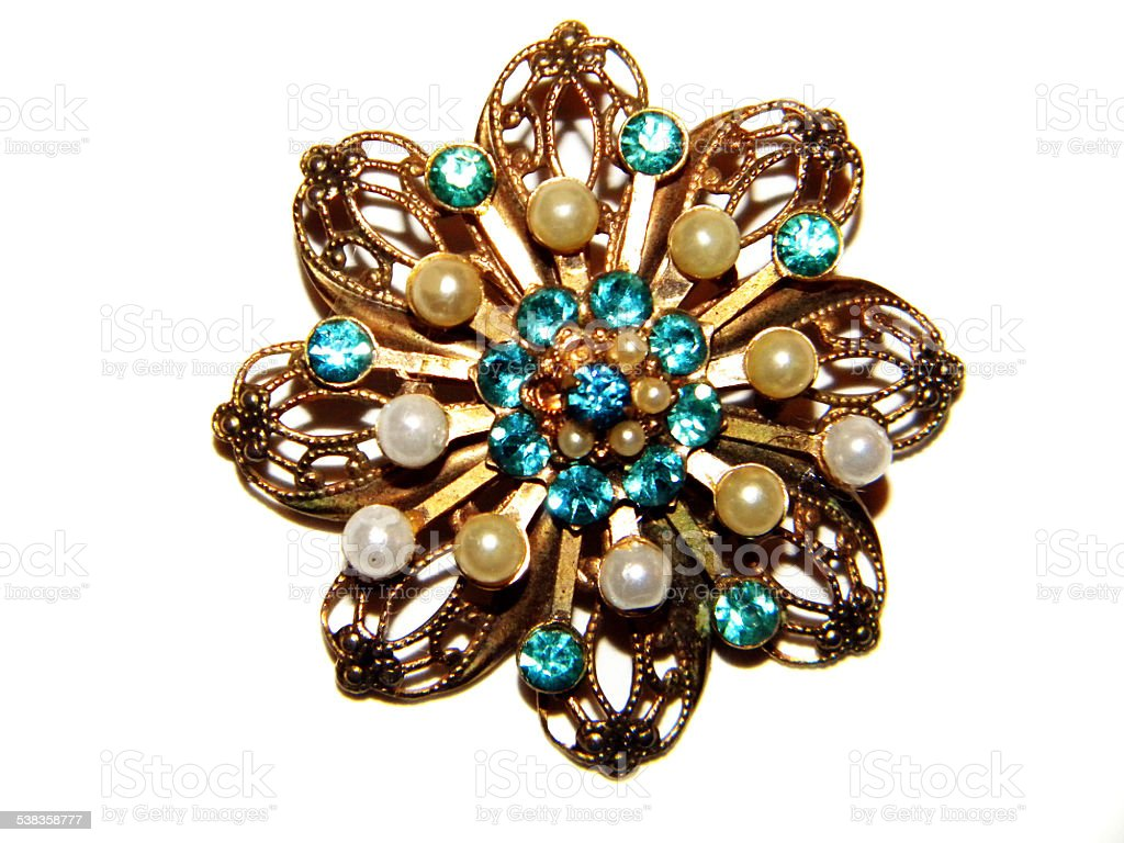 Brooch stock photo