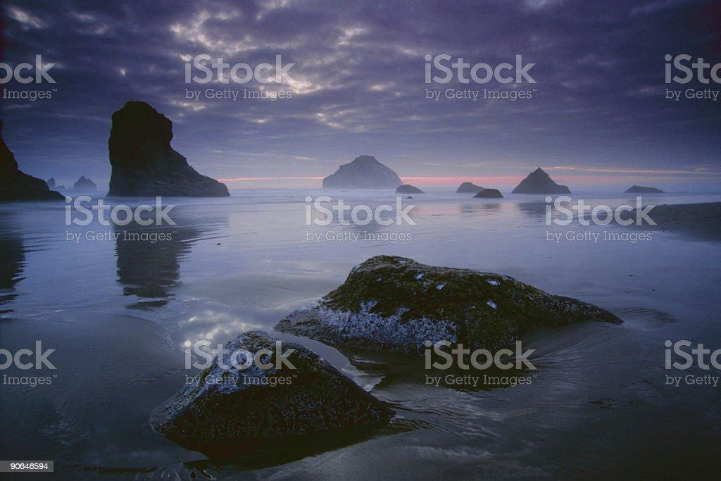 brooding beach sunset royalty-free stock photo